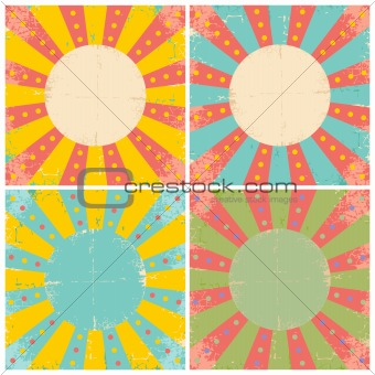 Set of vector of old sheets of paper