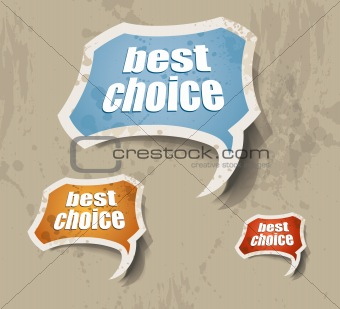 """best choice"" retro style bubbles sticker."