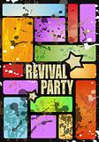 Retro' revival disco party flyer