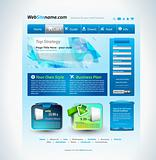 Modern website template with a technology futuristic style