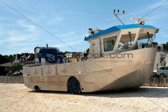 amphibious boat on beach