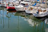 yacht mooring in Cancale