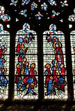 stained-glass window in cathedral