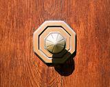 old metall doorknob
