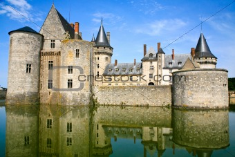medieval castle Sully-sur-loire, France
