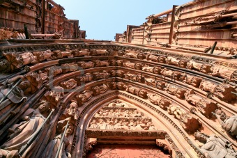 fragment of portal of cathedral