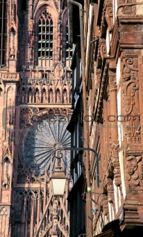 fragment of cathedral in Strasbourg