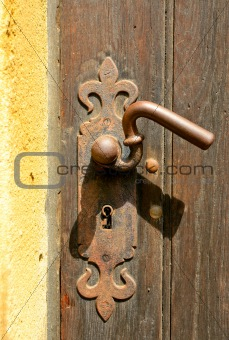 ancient door handle