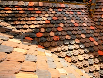 slope of tiling roof