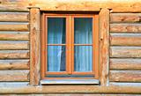 modern window in wood house
