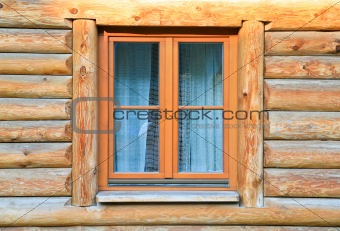 modern window in wood house