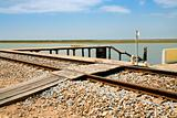 railroad and old small pier