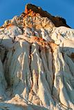 mountain from white and orange sand