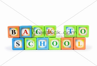Back to schol concept with alphabet blocks