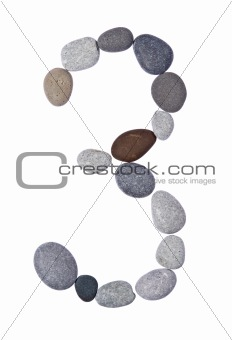 pebble 3 isolated on white