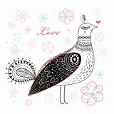 graphic love bird