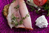 filet of smoked trout with horseradish