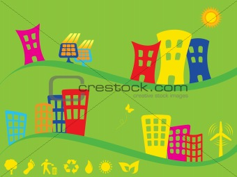 Green city using alternative energy
