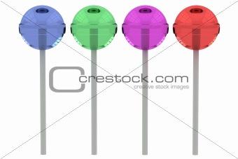 3d lollypops