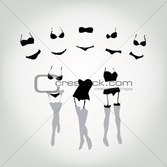 Lingerie sales concept