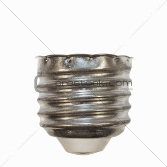 base bulb isolated on white for background and texture, screw bulb