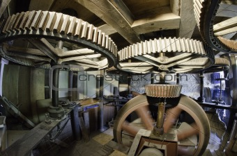 Ancient Mill Interior, Netherlands