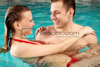 Couple in water