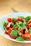 salad of fresh tomatoes with basil and balsamic vinegar