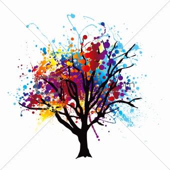 Paint splat tree