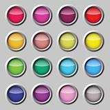 Varicoloured button vector web set