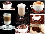 Collage of cups of coffee