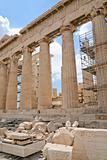 columns of Parthenon,Acropolis, Athens,