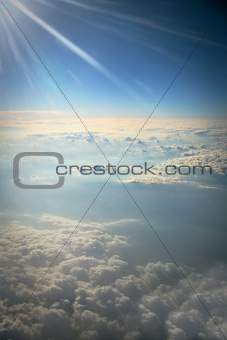 top view on clouds