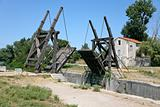 drawbridge in country side
