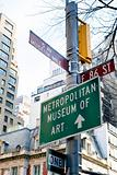 crossroad of 5 Ave and 86 East Street in New-York - Museum Mile
