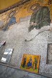 ancient Byzantine mosaic in Aya Sofya, Istanbul,