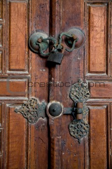 Old closed door
