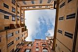 sky in Italian urban yard
