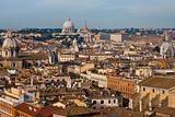 view on old town and St Peter Basilica