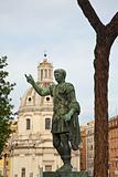 bronze statue of emperor