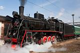 working steam locomotive