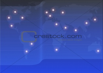 Background - Optical Fibers and World Map