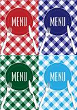 Set of Menu Card Covers