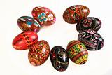 Ukrainian Easter Eggs Decorated isolated