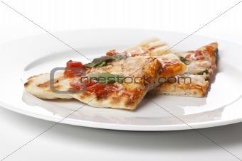 Slices of homemade margarita pizza