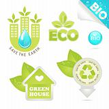 set eco and bio icons