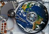 world on the hard disc