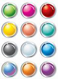 multicolored vector buttons