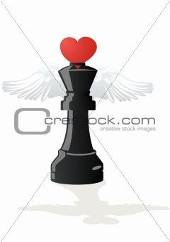 Amorous chess - Black King