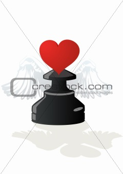 Amorous chess - Black Pawn
